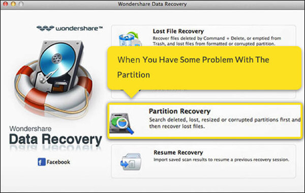 How to use Partition Recovery feature of Wondershare on Mac