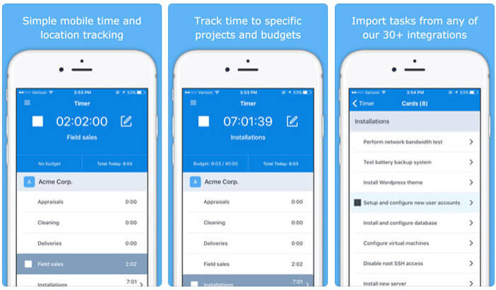 Hubstaff Time Tracker iPhone and iPad App Screenshot