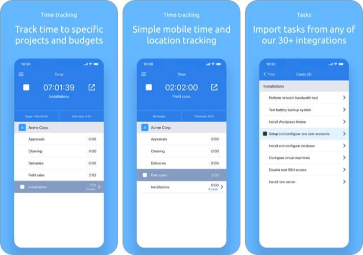 Hubstaff iPhone and iPad App Screenshot