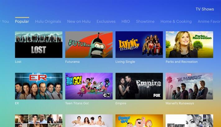 Hulu Apple TV App Screenshot