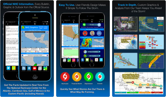 Hurricane Tracker iPhone and iPad App Screenshot