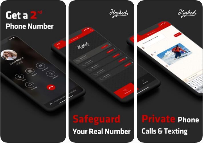 Hushed Second Phone Number iOS App Screenshot