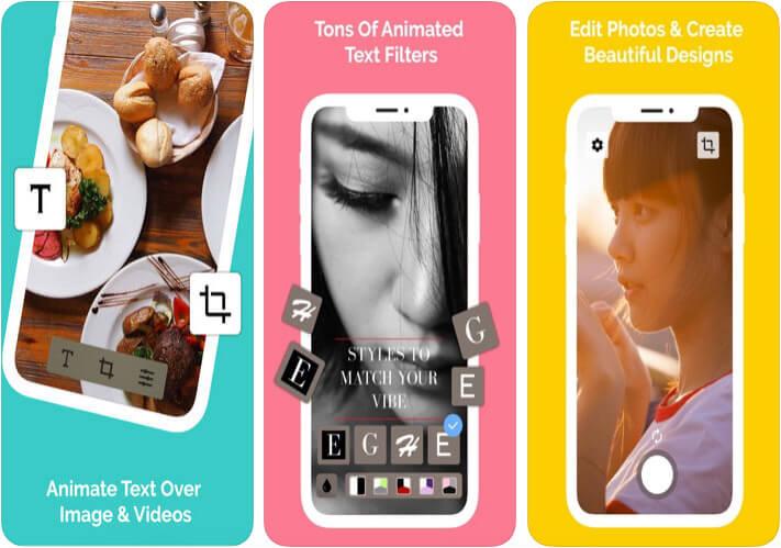 Hype Type Adding Text to Photos iOS App Screenshot