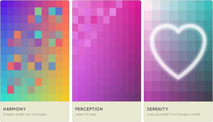 I Love Hue iPhone and iPad One-Handed Game Screenshot