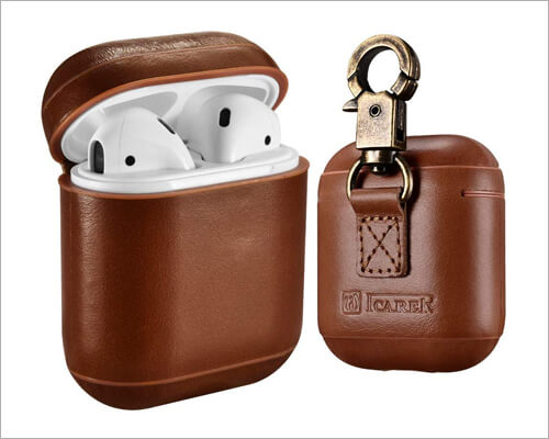 ICARER AirPods Leather Case