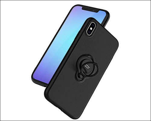 ICONFLANG iPhone Xs Ring Holder Case for Women