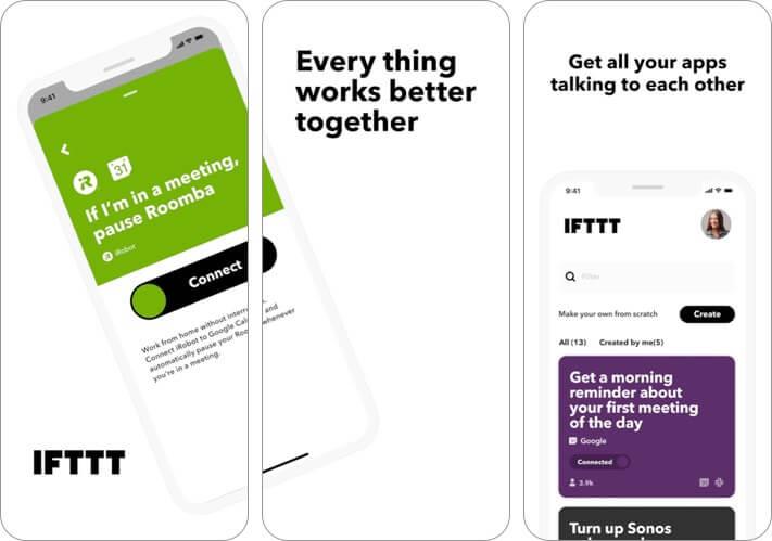 Screenshot der IFTTT-Blogging-App