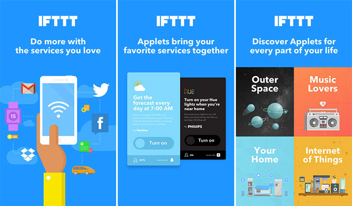 IFTTT iPhone and iPad App Screenshot