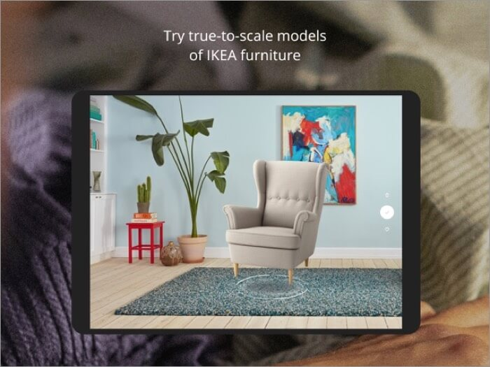 IKEA Place AR iPad App Screenshot
