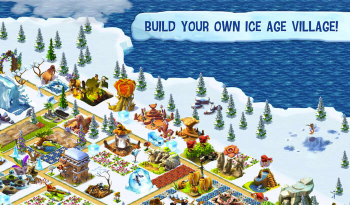 Ice Age Village Kill Stress iPhone and iPad Game Screenshot