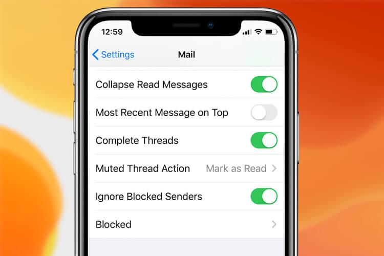 Ignore Blocked Senders in iOS 13