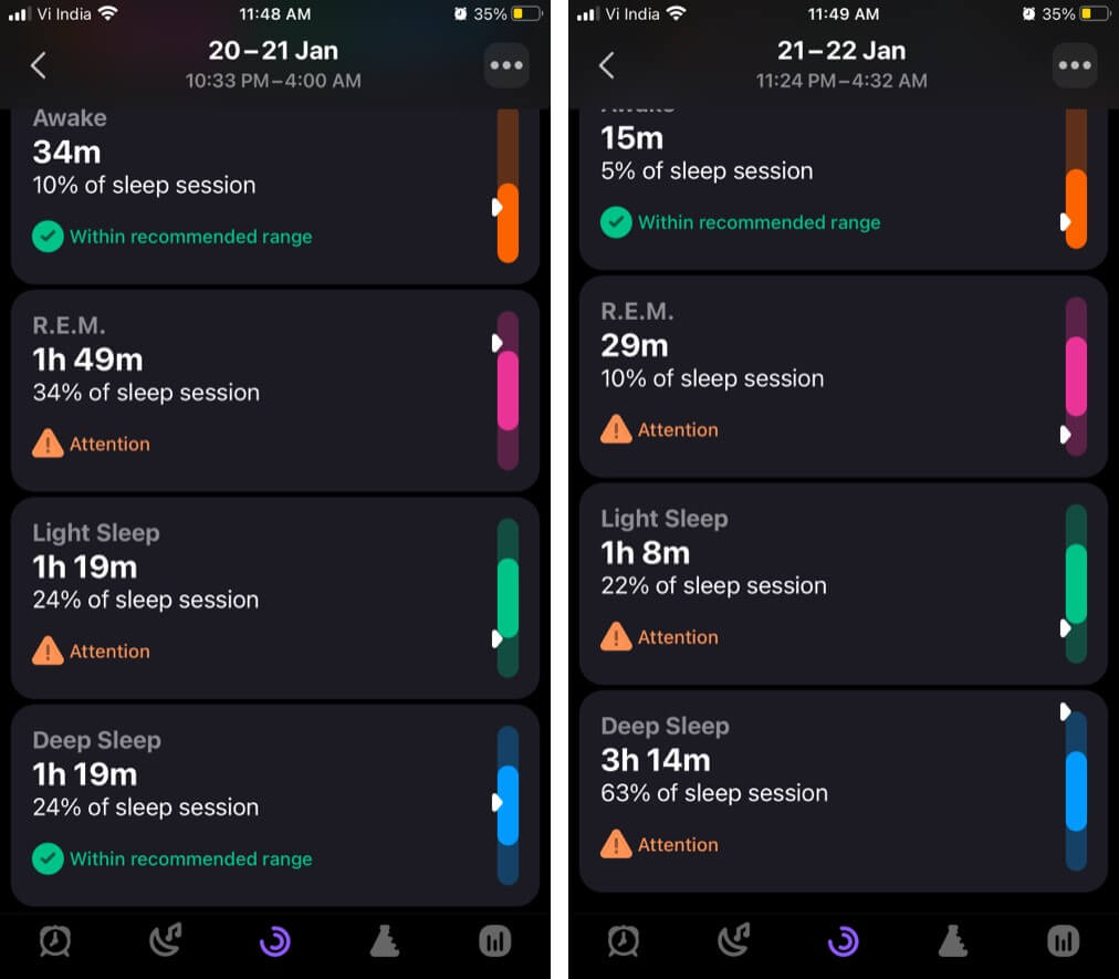 Improve overall health with pillow sleep tracking app on iPhone