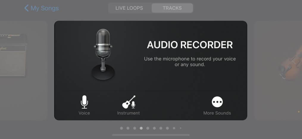In Audio Recorder option tap on Voice