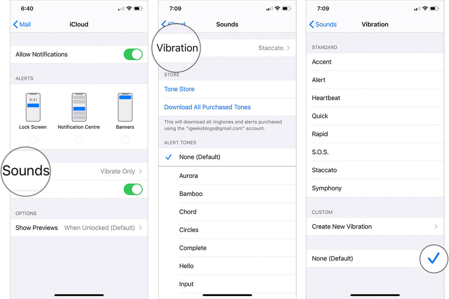 In iCloud tap on Sounds then tap on virabtion and select none on iPhone and iPad