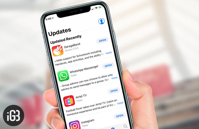 Individual App Updates on iOS Devices