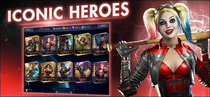 Injustice 2 iPhone und iPad Kampfspiel App Screenshot