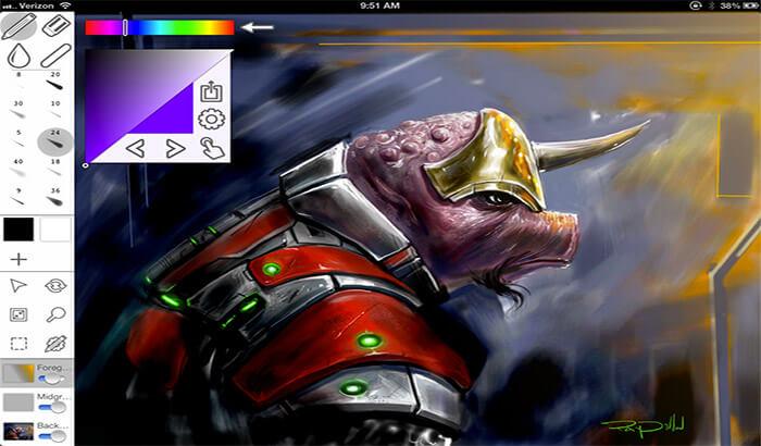 Inkist iPad Pro App Screenshot