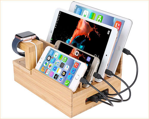 InkoTimes iPhone Xs Max, Xs, and iPhone XR Wooden Docking Station