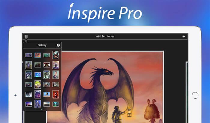 Inspire Pro iPad Drawing App Screenshot