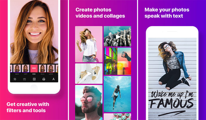InstaSize Photo & Pic Editor Collage Making iPhone and iPad App Screenshot