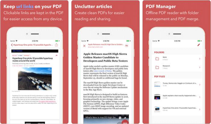 InstaWeb iPhone and iPad App Screenshot