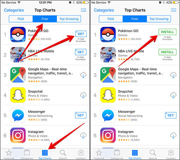Install Pokemon GO on iPhone