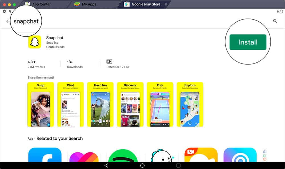 Install Snapchat App on Mac