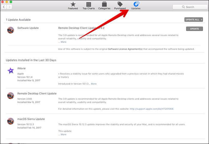 Install Updates on Mac