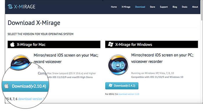 Install X-Mirage tool on Mac or Windows PC