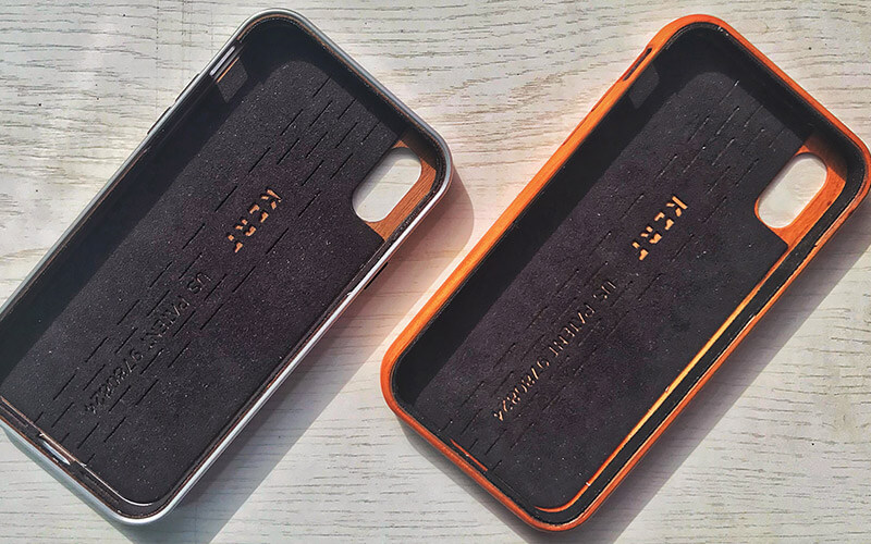 Interior of KERF Wooden Case for iPhone X, Xs, Xs Max, and iPhone XR