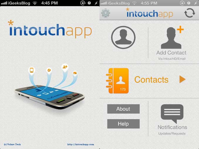 Intouchapp Contacts iPhone App Review