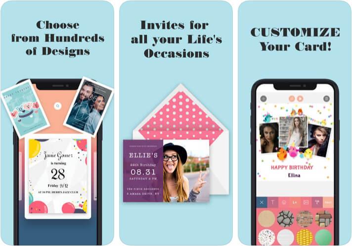 Invitation Maker iPhone and iPad App Screenshot