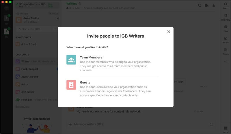 Invite People as Guest from Outside of Workplace on Flock