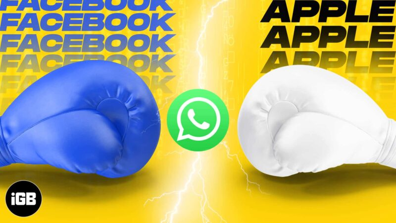 Is WhatsApp's new update (2021) the byproduct of Apple vs Facebook feud?