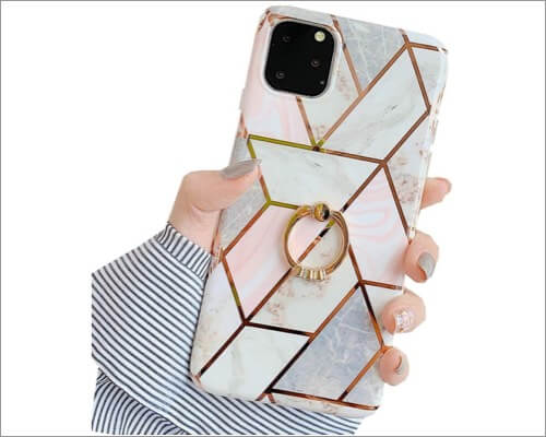 JANDM Ring Holder Case for iPhone 11 Pro Max