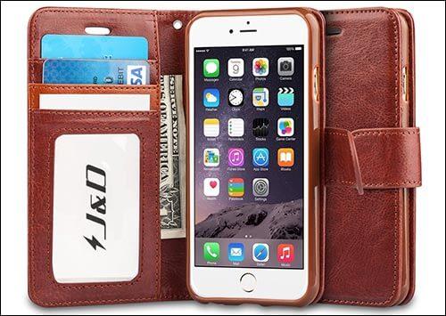 J&D Wallet Case for iPhone 6s
