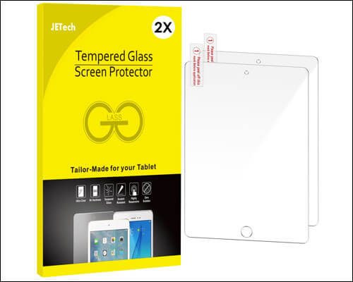JETech 9.7-inch iPad 2018 Tempered Glass Screen Protector