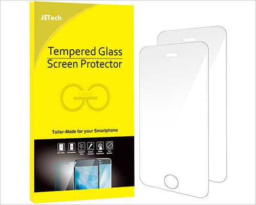 JETech Glass Screen Protector for iPhone SE