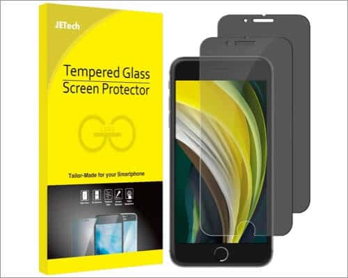 JETech Privacy Screen Protector for iPhone SE 2020