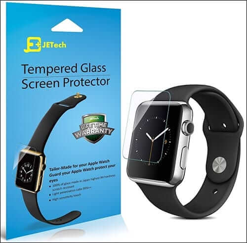 JETech Tempered Glass Screen Protector for Apple Watch
