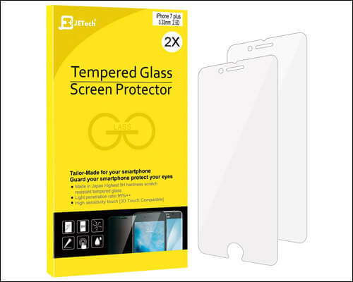 JETech iPhone 7 Plus Tempered Glass Screen Protector