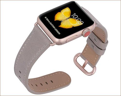 JFdragon Apple Watch Series 3 Leather Band