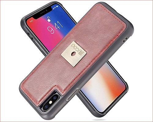 JGOO iPhone Xs Max Leather Case