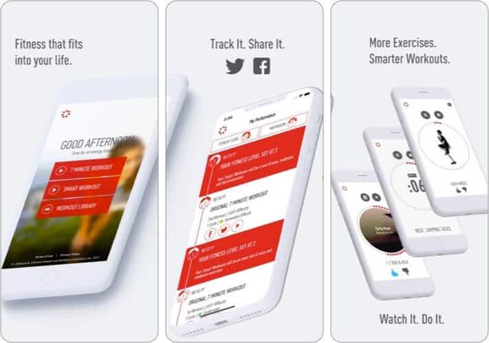 J&J Official 7 Minute Workout iOS App Screenshot