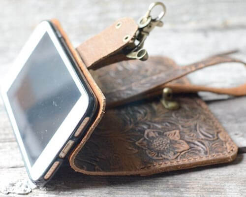 JJNUSA Handmde Leather Case for iPhone 6, 6s, 7 and iPhone 8
