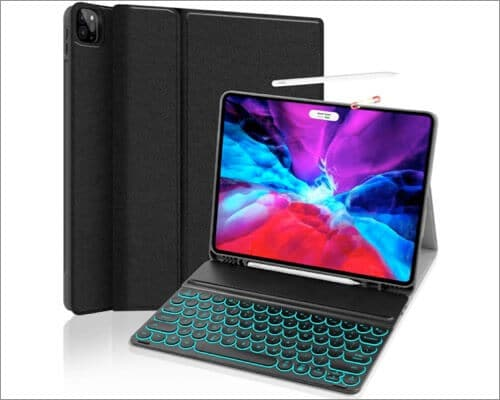 JUQITECH 12.9-inch iPad Pro 2020 Keyboard Case