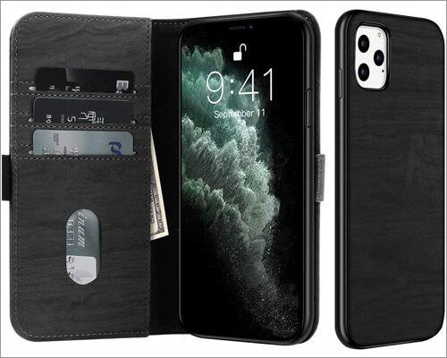 JUQITECH iPhone 11 Pro Max Folio Case