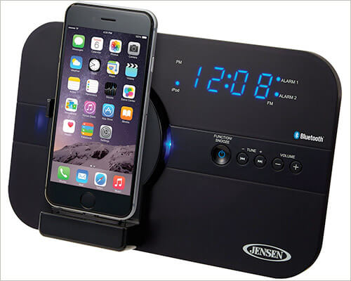 Jensen JiLS-525iB iPhone SE, 5s, and 5 Clock Radio Docking Station