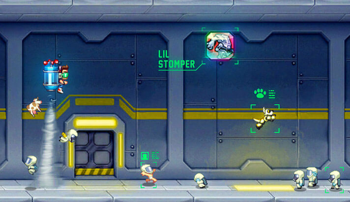 Jetpack Joyride One-Handed iPhone and iPad Game Screenshot