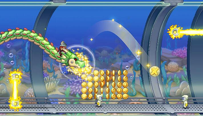 Jetpack Joyride iPhone and iPad Arcade Game Screenshot